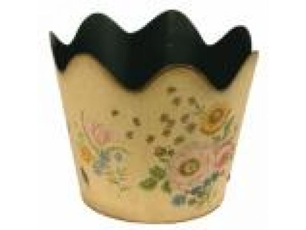Mfg #: 03-1671 SCALLOPED PLANTER WITH ROSES AND BU