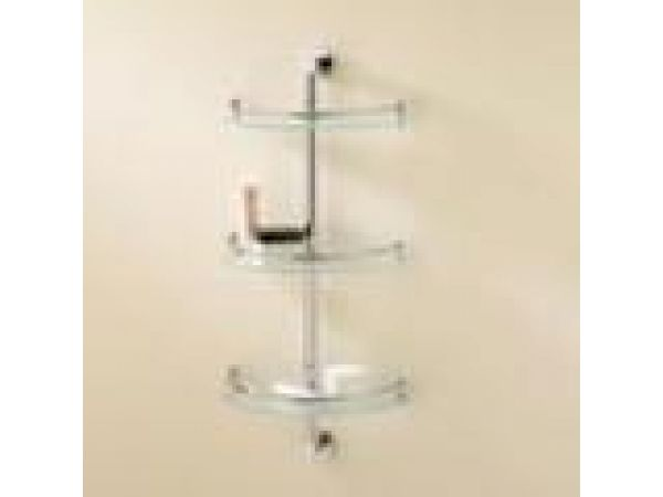 3-Tier Fixed, Curved Shelf Unit
