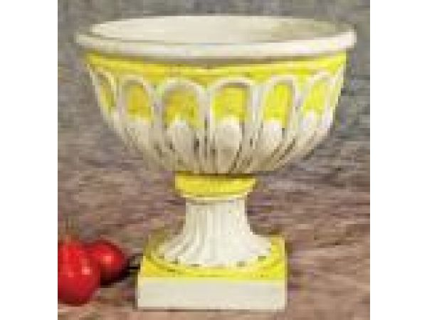 Footed Yellow Planter