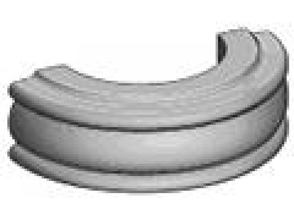 Outside Curved Traditional Light Rail Moulding