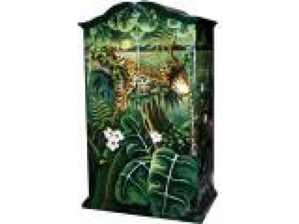 Armoire- Cabinet Sleeping Jaguar