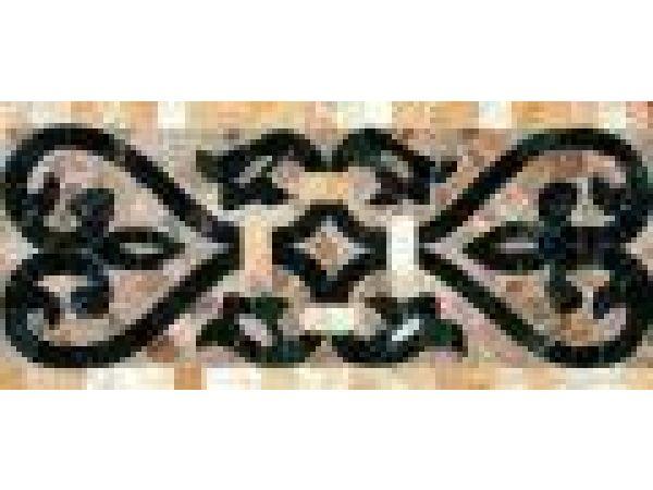 Stone Mosaics-5.5x11 French Harp J