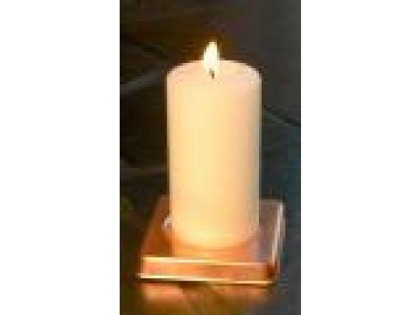 Square Copper Candle Coaster