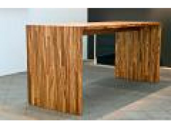 Solid Combined Bar & DinerSolution in Zebrano Wood