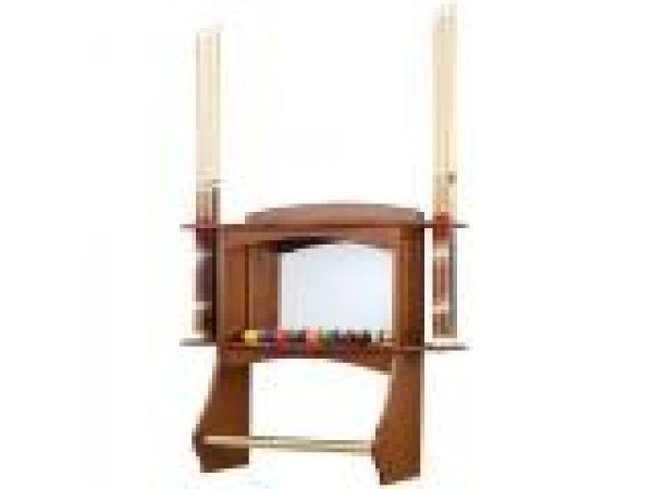 Cue & Ball Back Bar With Mirror