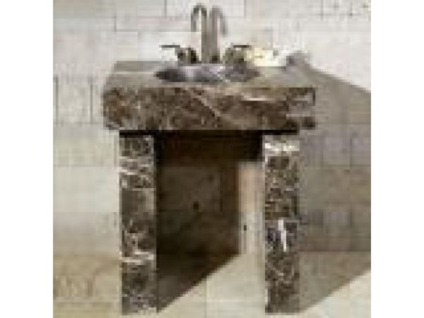 Moonscape Marble Vanity Block & Farmsink Style Console