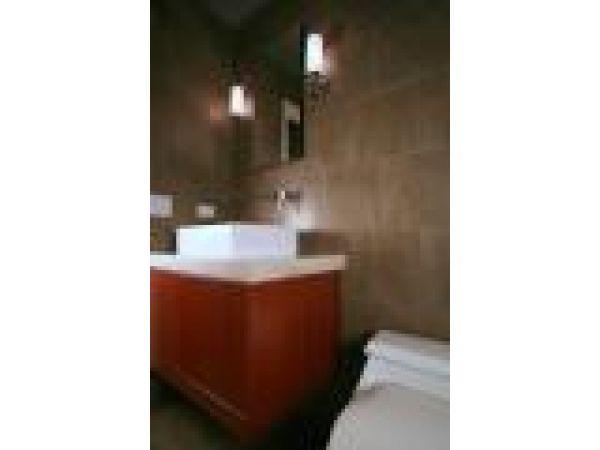 Contemporary, Green, Humidity-Proof Bath Vanity