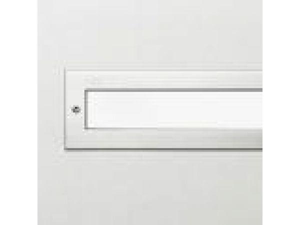 In-grade - linear fluorescent w/ white glass