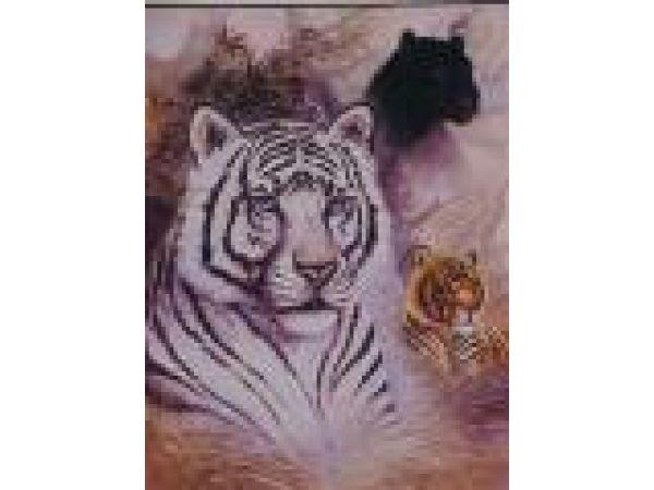Bengal White Tiger, African Tiger, Black Panther PF606