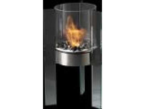 Apollo GlassFire'© Cylinder With Glass Pedestal Indoor/Outdoor