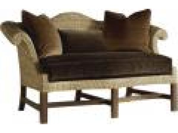 Woven Chippendale Settee