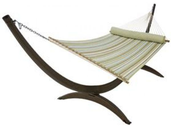 All-Weather Wicker Roman Arc Hammock Stand