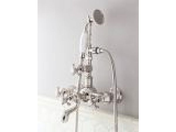 Bathing - Exposed Tub FIller with Handshower