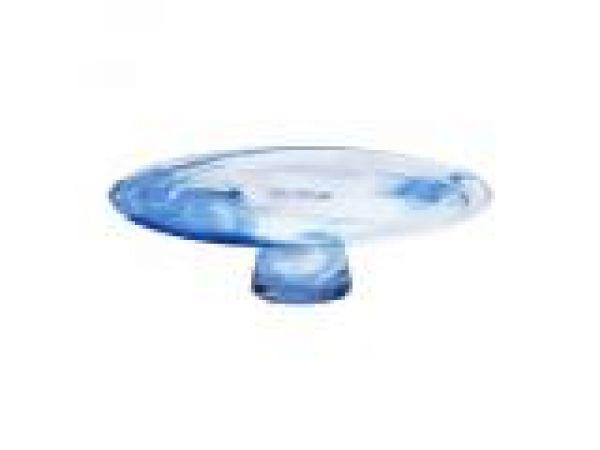 Mine Blue Cake Plate