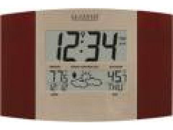 WS-8157U-CH-ITAtomic Digital Wall Clock with Forecast & Weather