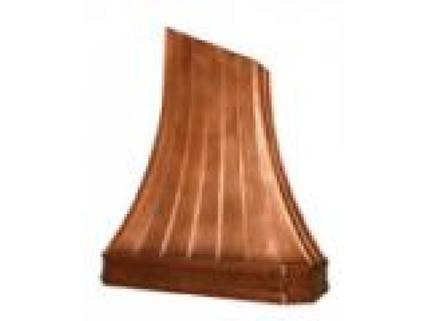 French Sweep Copper Hood with Standing Seams