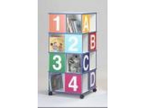 Four-Tier ABCD/1234 Book Caddy - 39406