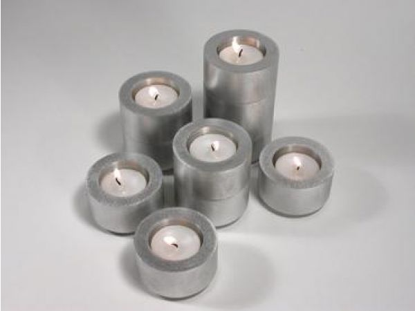 Shine 4-Stackable Menorah Candle and Tealight Set