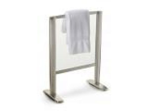 Free-Standing Heated-Glass Towel Warmer