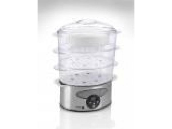 Fagor Stainless Steel Three Tier Electric Steamer