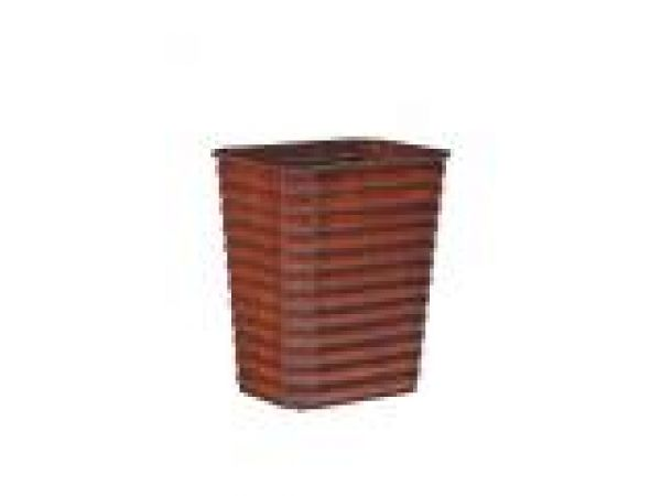 Ribbed Pine Wastebasket-Small w/insert1