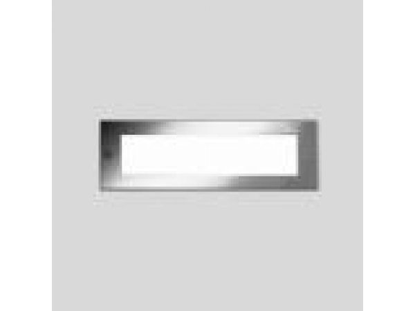 Recessed wall - stainless steel with white tempere