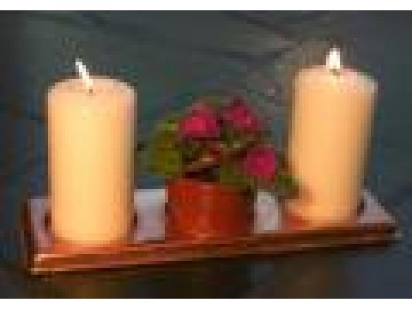 Rectangular Copper Candle Coaster