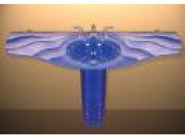 Blue Fleur-De-Lis Pedestal Sink