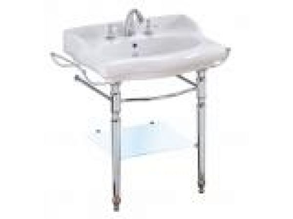 Magica console sink with glass shelf
