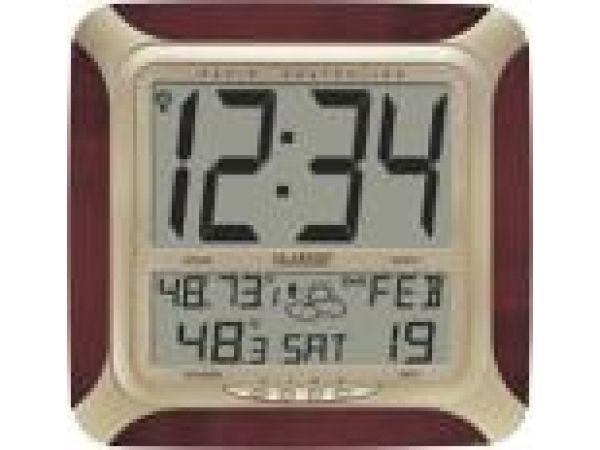 WS-8249U-CHAtomic Digital Wall Clock with Forecast & Weather