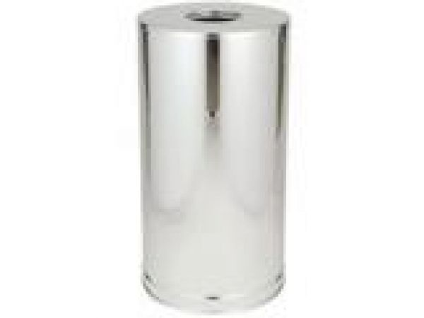 9066 Atrium' Stainless Steel Container, Open Top with 11 U.S. gal (41.6 L) Galvanized Liner