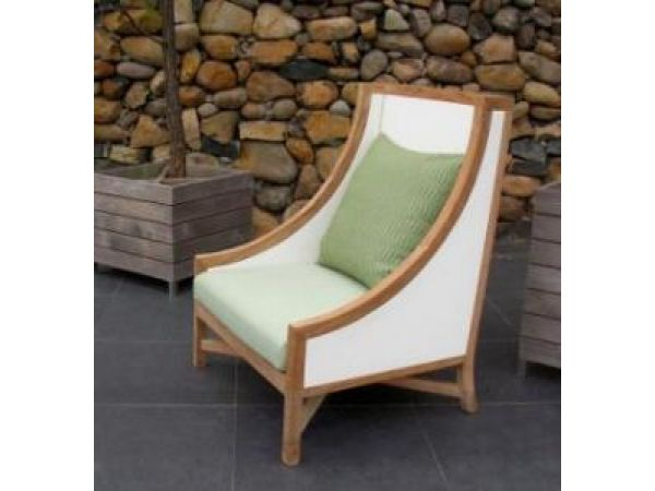 Contemporary High-Back Lounge Chair