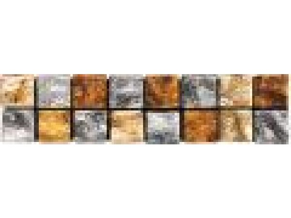VG113 Silver Leaf/Amber/Gold Mosaic Liner Bar 2