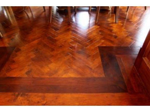 Hickory and Walnut Herring Bone Floor