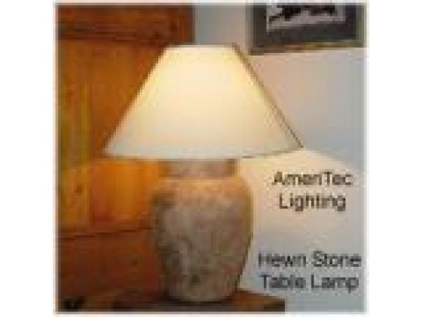 Hewn Stone Table Lamp