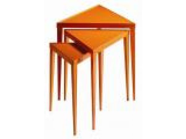 2004-011 Nesting Tables in Poppy