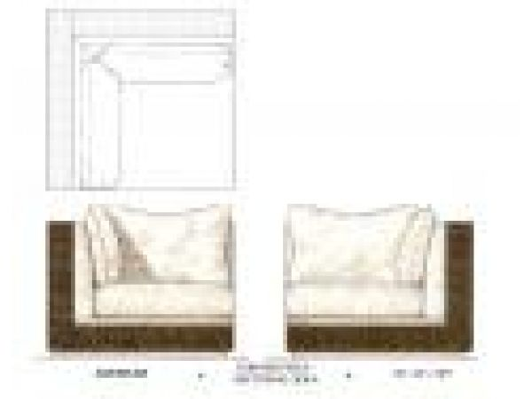 The Agassi/Graf Collection by Kreiss Section Sofa
