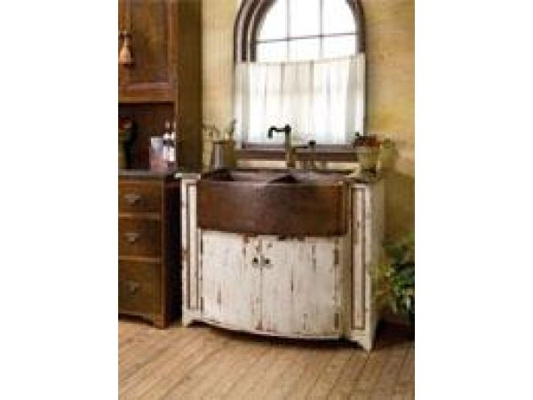 C60 English Manor Bow Front Sink Chest