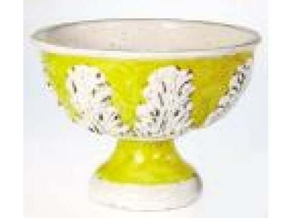 Footed Bowl w/Leaves
