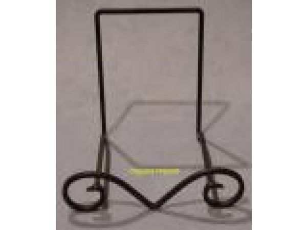 Wrought Iron Plate/Bowl Stand - 1015-Large Wrought Iron Bowl