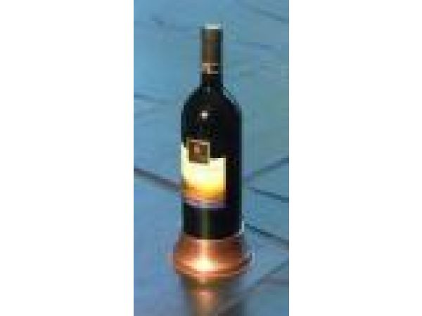 3  Wine Bottle Pedestal Coaster