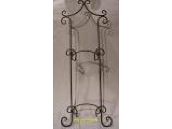 Wrought Iron Double Plate Wall Holder