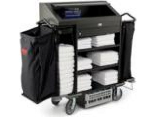 9T64 Deluxe High Security Housekeeping Cart