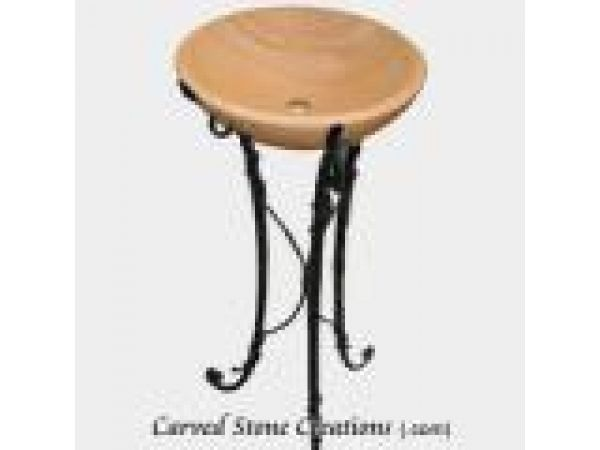 ABS-112, ''Scrolled'' Wrought Iron Vessel Sink Stand