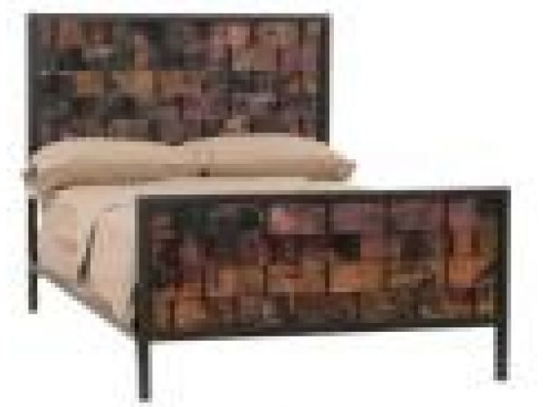 Rushton Bed with Fired Copper