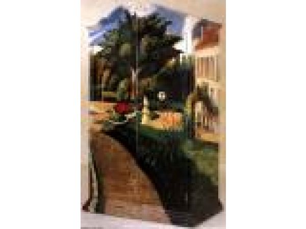 Armoire- Cabinet Impressionist Garden