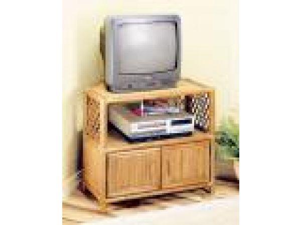 Lattice Corner TV Stand