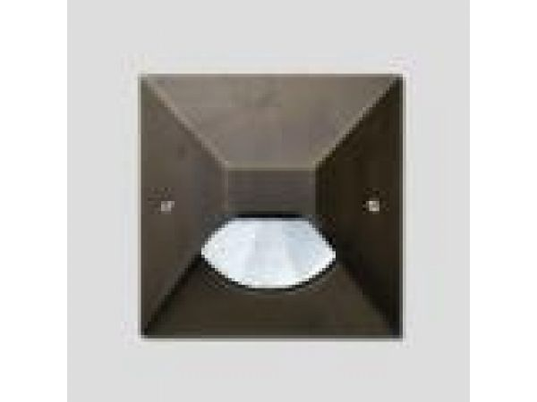 In-grade - cast bronze square