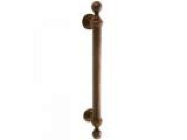 Asbury Door Pull w/ Rosettes: Thru-bolt installati