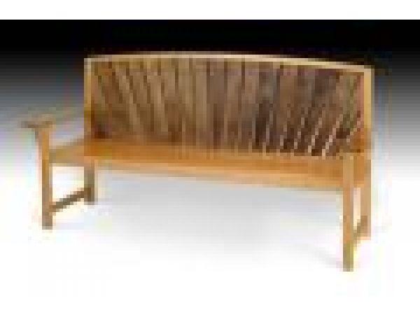 Teak slat bench